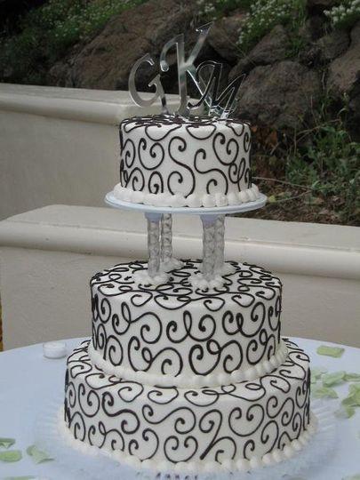 Monogram Wedding Cake