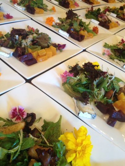summer salad with roasted beets