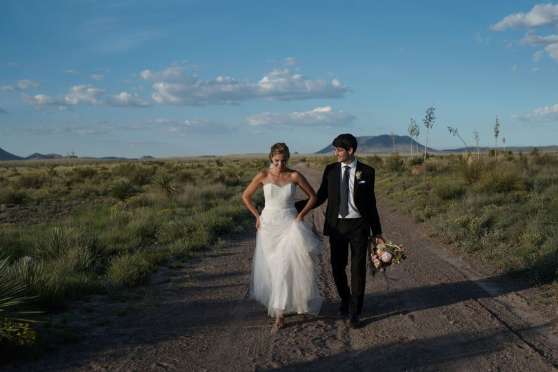 Desert Boho wedding in Marfa, Texas