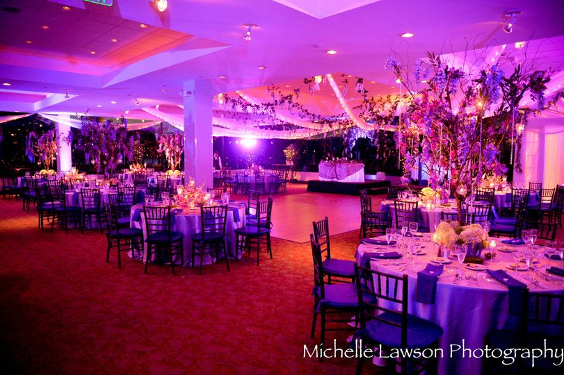 Reception hall lighting and design
