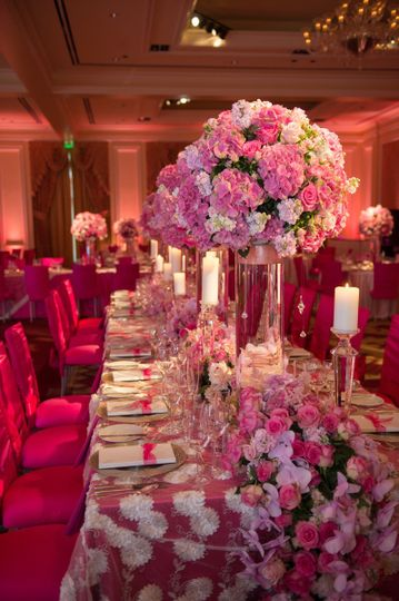 Pink table setup