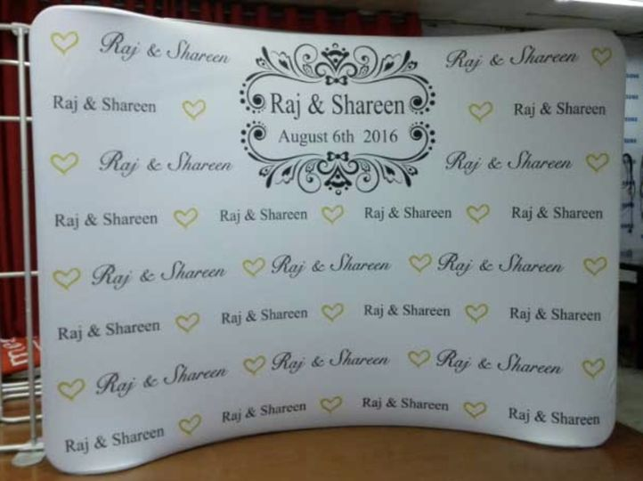 affordable wedding event popup logo printed fabric