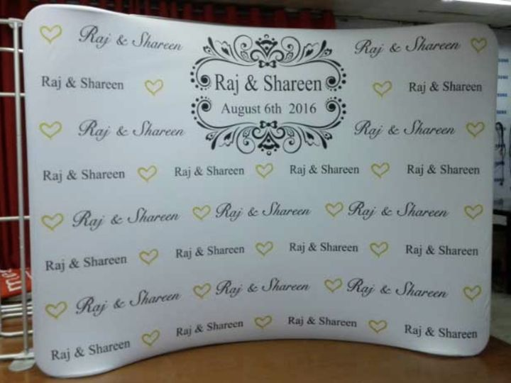 Tmx 1503935960163 Affordable Wedding Event Popup Logo Printed Fabric Indianapolis wedding rental