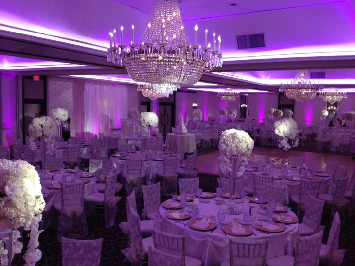 Overall View of the Crystal Ballroom. Very Elegant Design and Layout.  (The Hills Hotel - Laguna...