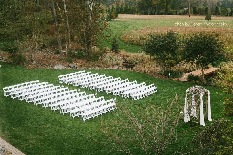 Wedding ceremony venue outdoors