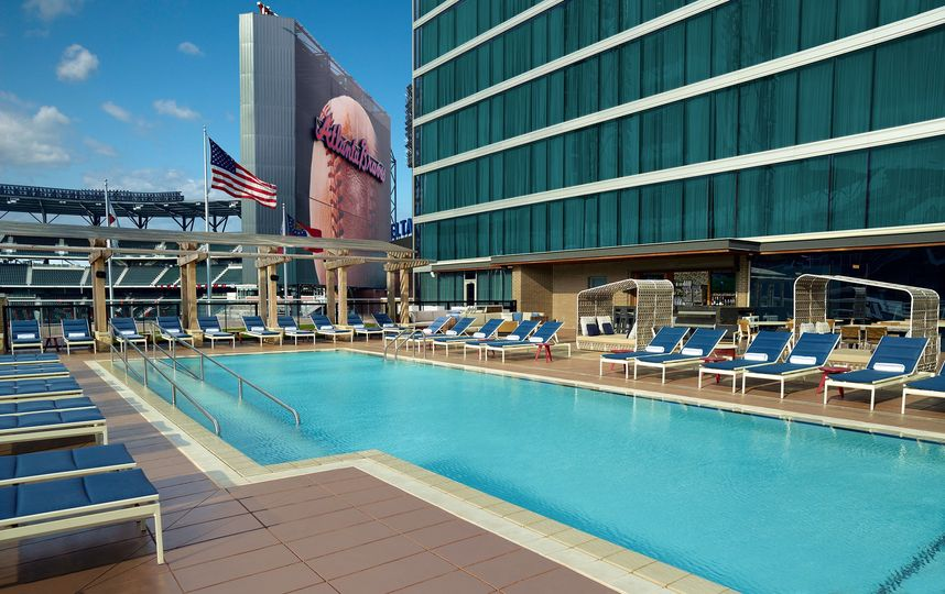Relax and soak up some rays at our elevated pool deck