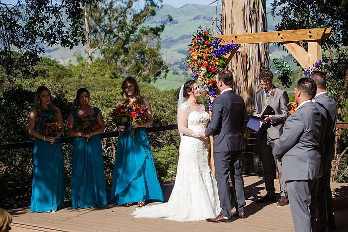 Ceremony overlooking Edna Valley