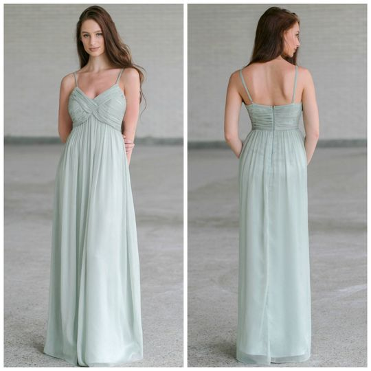 part of the bridal party chiffon maxi dress in sag