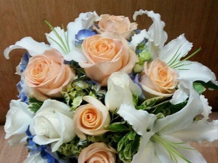 Tmx 1501199418149 Blue And Peach Bridal And White Tillamook wedding florist