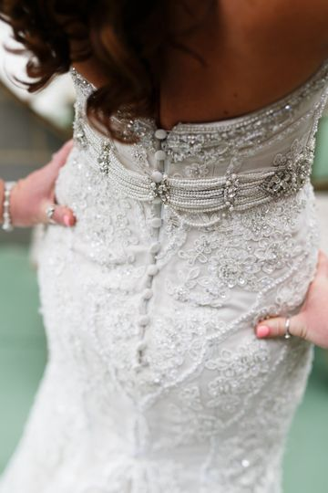 Fitted dress with silver bits