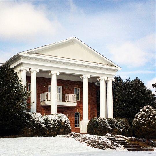 facade with snow