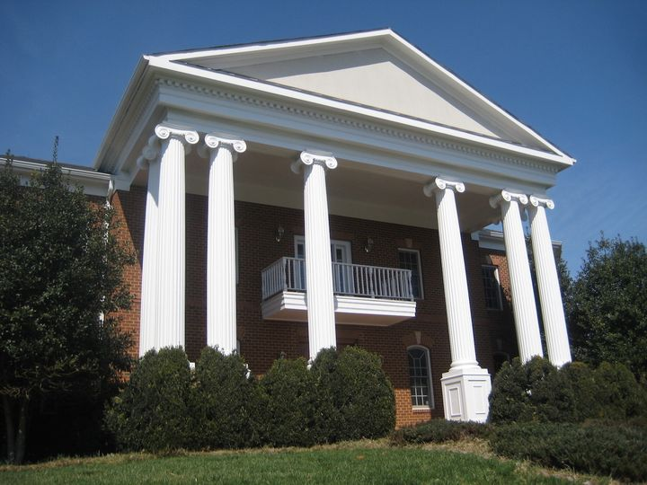 front facade at an angle sunny