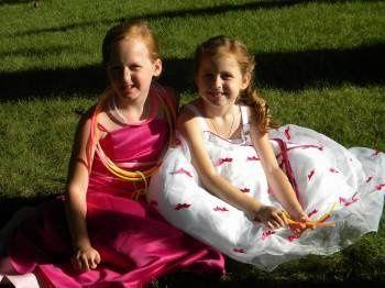 Flower girls at Leah's wedding.