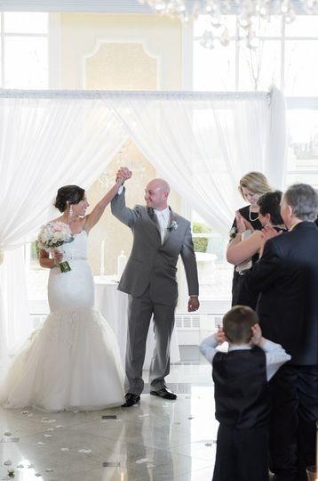 The newlyweds celebrate
