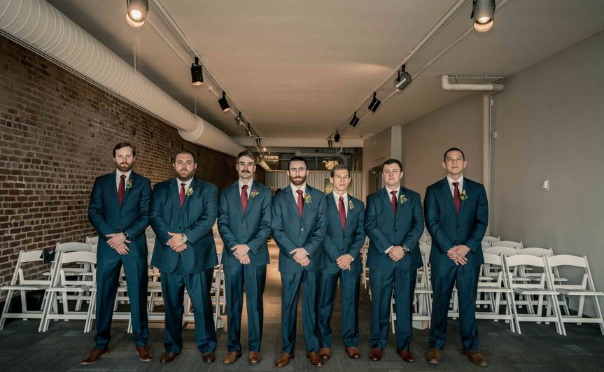 Wedding groomsmen photo