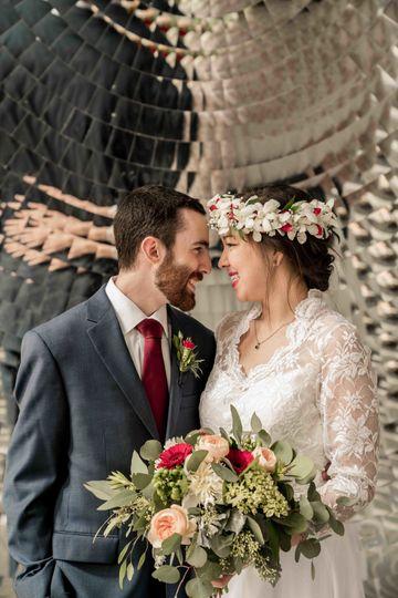 kentucky science center wedding photo