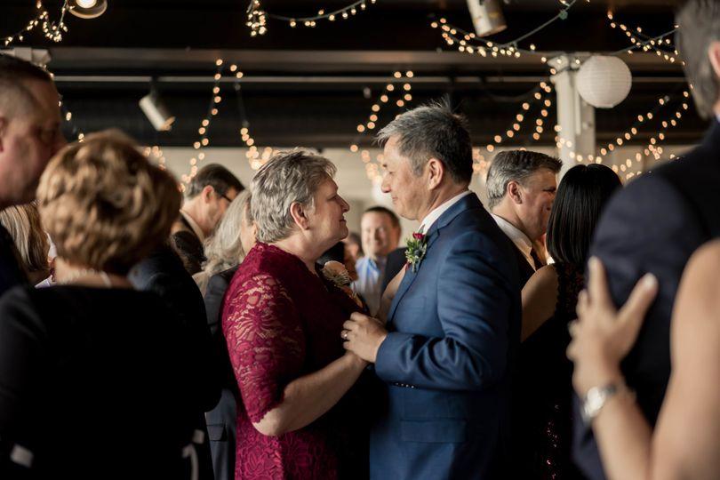 wedding reception photo dancing