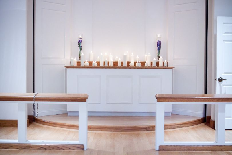 Altar with candles