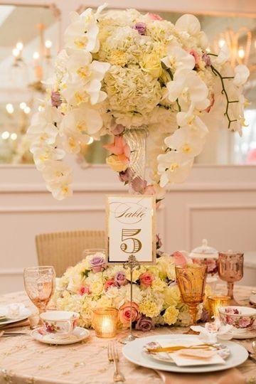 Dainty flower arrangements