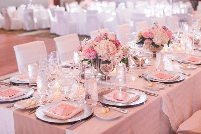 Blush pink flower arrangements