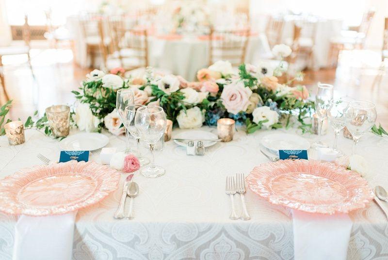 Peach Sweetheart Table Design
