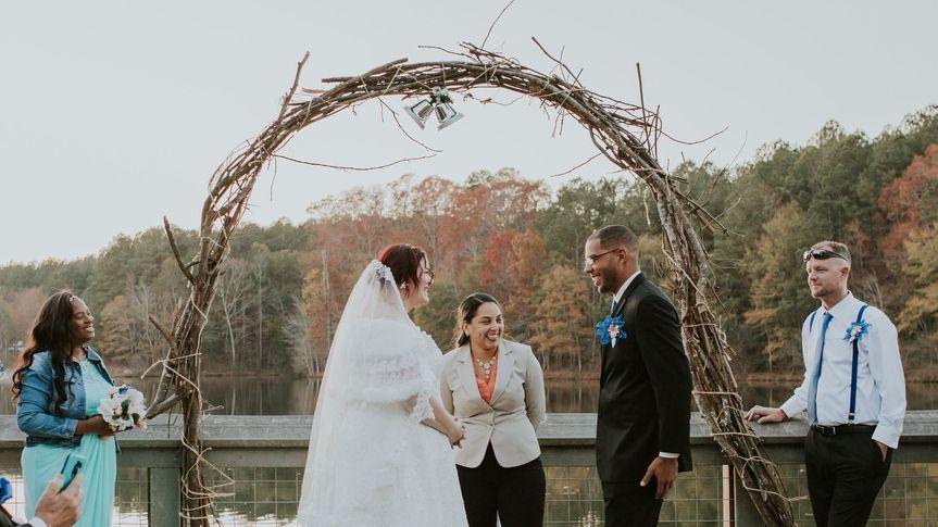 Lake front wedding