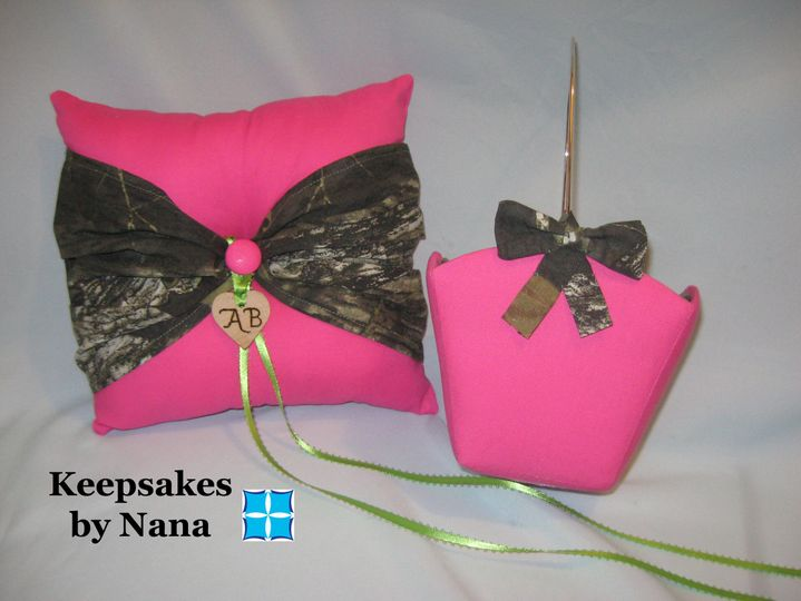 Buy together & save!  Bowtie Ring Bearer Pillow & Small Flower Girl Basket.  Your choice of...