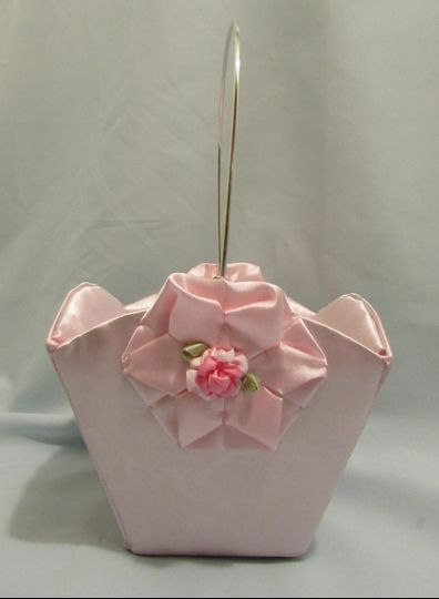 Small Flower Girl Basket.  Your choice of colors/fabrics & even camo $20