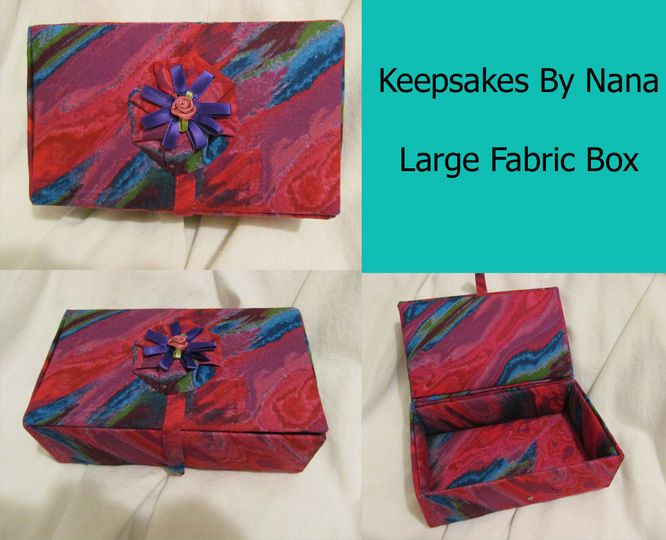 Large Fabric Box--use for thank-you gift for your attendents/parents.  OR use to carry your rings!...
