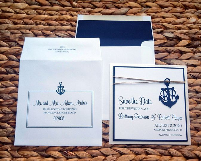 Nautical anchor save-the-date