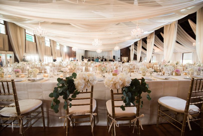 Ryan Designs Crystal Chandeliers, Side Panels & Fabric Swags