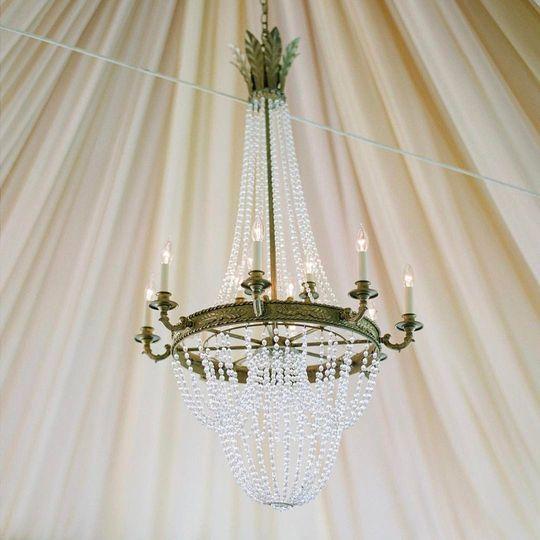Ryan Designs Empire Chandelier & Full Fabric Ceiling
