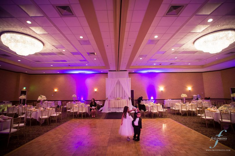 Get the party started with our large dance floor! Photo courtesy of Fritz Photography.