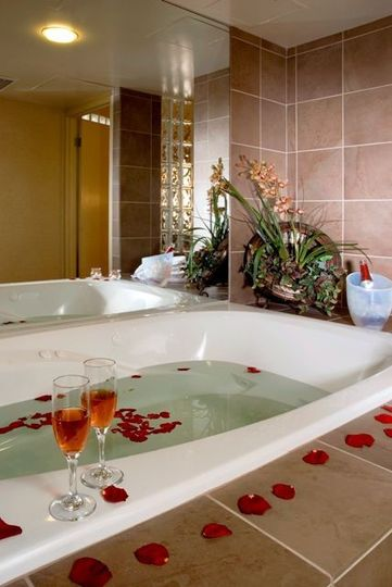 The married couple can enjoy a large honeymoon suite to celebrate their special day together!
