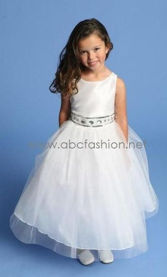 Tulle Flower Girl Dress with Rhinestones - $55 Available in Many Colors!