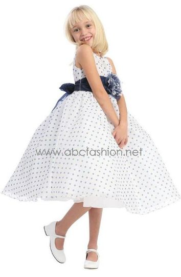 Polka Dot Flower Girl Dress - $45
