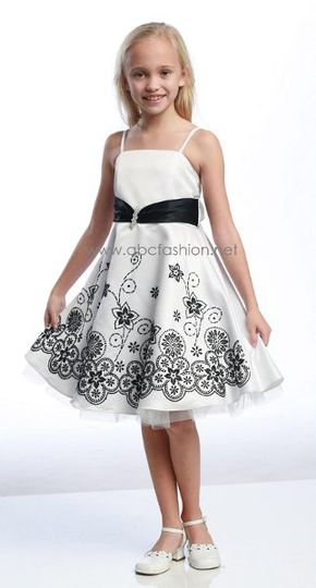 FlowerGirlDressD542Black