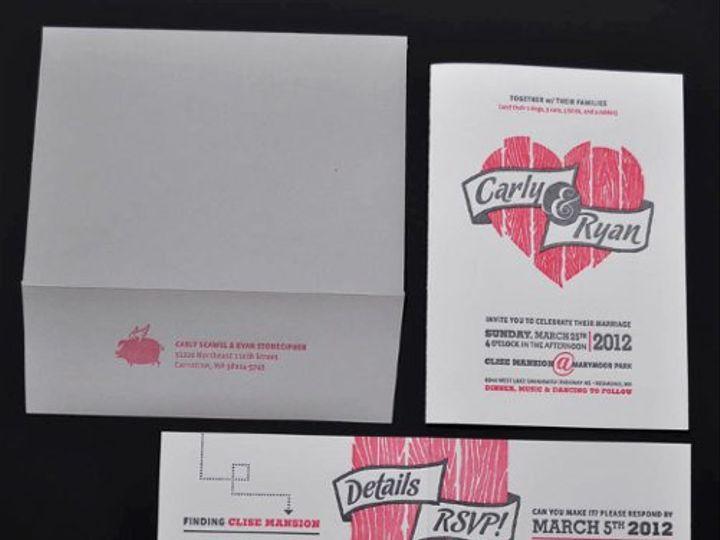 Tmx 1331414128764 CarleyRyanInvite1 Seattle wedding invitation