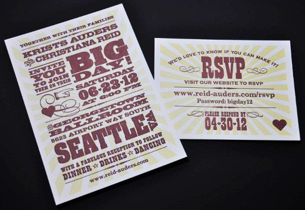 Tmx 1331414261482 Invite1 Seattle wedding invitation