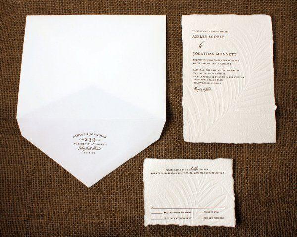 Tmx 1331414455408 LetterpressWeddingInvite1 Seattle wedding invitation