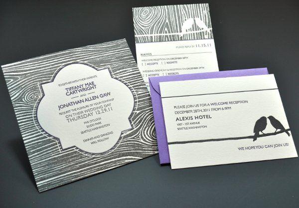 Tmx 1331415269492 Birdweddingsetletterpress Seattle wedding invitation