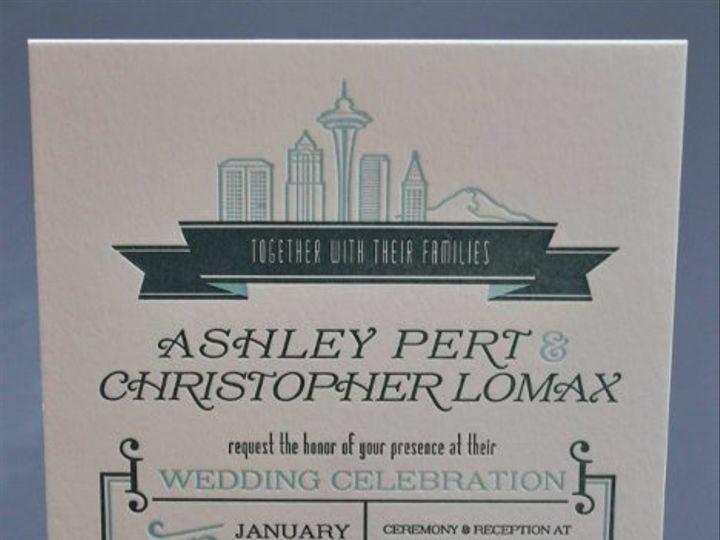 Tmx 1331417783748 DSC1584 Seattle wedding invitation