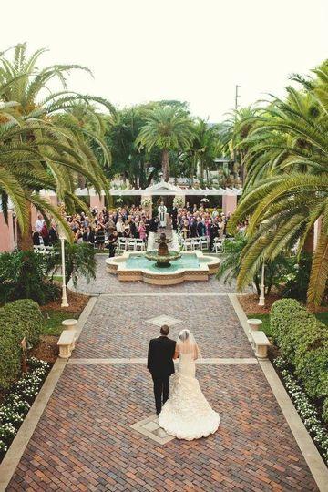 Wedding couple entrance