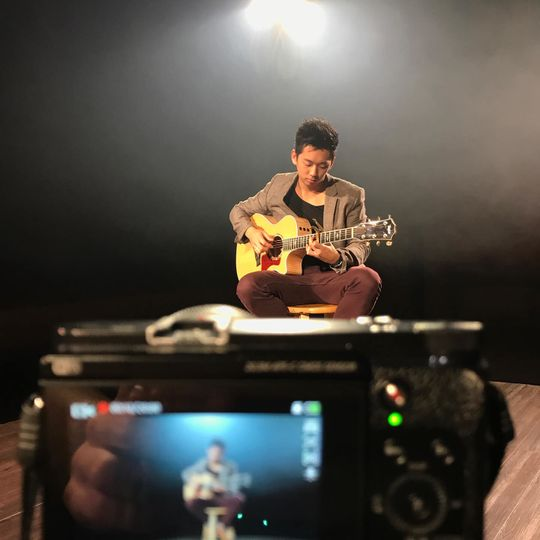 Filming a video