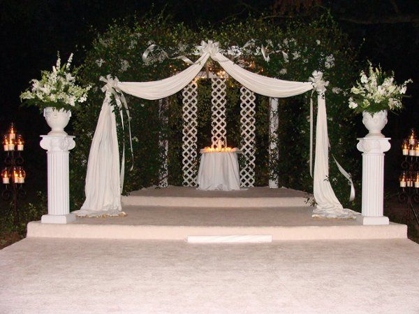 Simple decorated chuppah