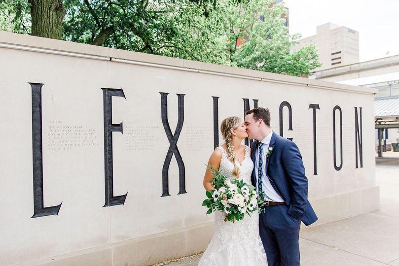 Downtown Lexington wedding