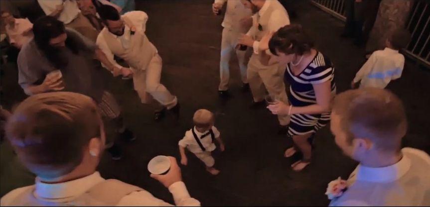 Lil guy starts a dance circle