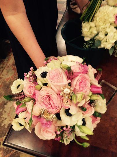 Pink flower arranbgement