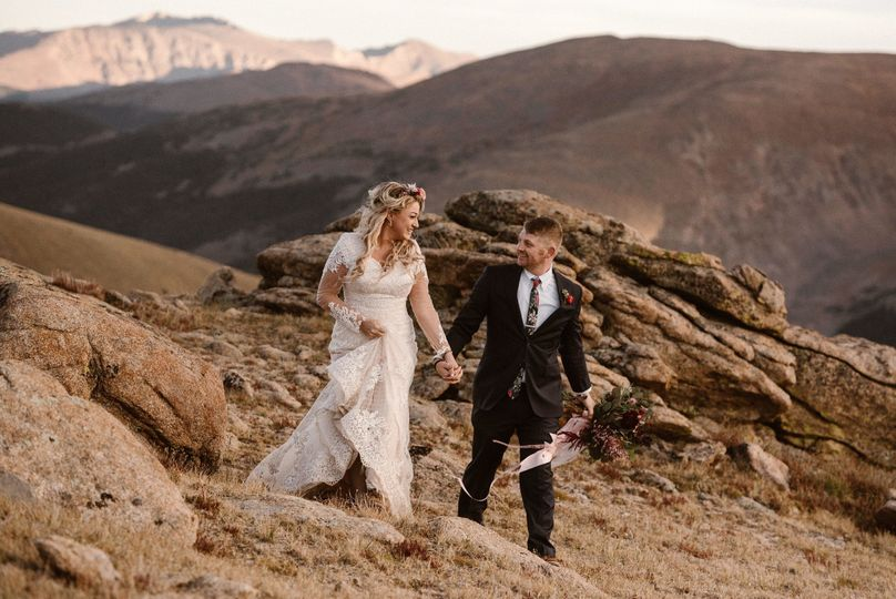 Colorado Elopement. Sottero and Midgley wedding dress from Best Bride Prom & Tux. Photo by Maddie...