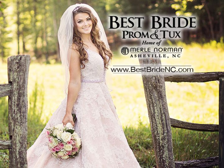 Tmx 1499269062940 Best Bride Prom And Tux Logo With Lindsey Asheville wedding dress